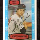 BOSTON RED SOX CARL YASTRZEMSKI 1975 KELLOGG'S 3-D # 51
