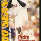 BOSTON RED SOX 2000 TICKET GUIDE & SCHEDULE PEDRO MARTINEZ COVER PHOTO