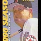 BOSTON RED SOX BUDWEISER 2000 POCKET SCHEDULE JIMY WILLIAMS