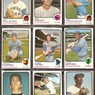 MILWAUKEE BREWERS 15 DIFF 1973 TOPPS COLBORN DON MONEY LOCKWOOD PORTER HEISE FELSKE BRIGGS AUERBACH