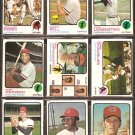 CLEVELAND INDIANS 16 DIFF 1973 TOPPS BUDDY BELL RC GAYLORD PERRY CHRIS CHAMBLISS FOSSE TIDROW DUFFY