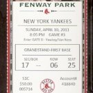 NEW YORK YANKEES BOSTON RED SOX 2011 FULL TICKET JIMMIE FOXX PHOTO ROBINSON CANO PEDROIA DAVID ORTIZ