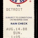 DETROIT TIGERS BOSTON RED SOX 1988 TICKET TRAMMELL JIM RICE CLEMENS