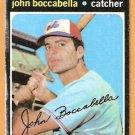 MONTREAL EXPOS JOHN BOCCABELLA 1971 TOPPS # 452 good