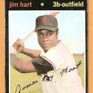 SAN FRANCISCO GIANTS JIM HART 1971 TOPPS # 461 good