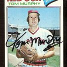 BOSTON RED SOX TOM MURPHY AUTOGRAPHED 1977 TOPPS # 396