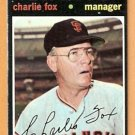 SAN FRANCISCO GIANTS CHARLIE FOX 1971 TOPPS # 517
