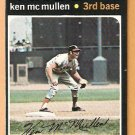 CALIFORNIA ANGELS KEN McMULLEN 1971 TOPPS # 485 EX/EM