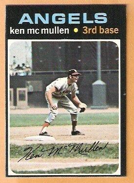 CALIFORNIA ANGELS KEN McMULLEN 1971 TOPPS # 485 EX/EM