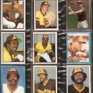 1981-84 SAN DIEGO PADRES 15 DIFF TOPPS STICKERS TEMPLETON DRAVECKY SHOW KENNEDY LOLLAR MONTEFUSCO ++