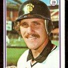 SAN FRANCISCO GIANTS ROB ANDREWS 1978 TOPPS # 461 NM OC