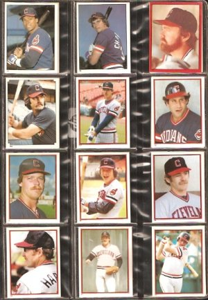 1981-84 CLEVELAND INDIANS 25 DIFF TOPPS STICKERS BLYLEVEN CHARBONEAU HARRAH SUTCLIFFE THORNTON HAYES