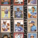 1982-83 TORONTO BLUE JAYS 12 DIFF TOPPS STICKERS DAVE STIEB MOSEBY BARFIELD UPSHAW GRIFFIN WHITT ++