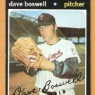 MINNESOTA TWINS DAVE BOSWELL 1971 TOPPS # 675 EX MT