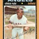 CALIFORNIA ANGELS CHICO RUIZ 1971 TOPPS SHORT PRINT SP # 686 good