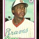 ATLANTA BRAVES GARY MATTHEWS 1978 TOPPS # 475 EX