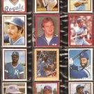 1981-84 KANSAS CITY ROYALS 28 DIFF TOPPS STICKERS GEORGE BRETT AMOS OTIS FRANK WHITE McRAE W WILSON