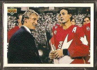 WAYNE GRETZKY PAUL COFFEY CANADA CUP CHECKLIST 1991 UPPER DECK # 501