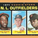 N.L. ROOKIE OUTFIELD GIANTS BERNIE WILLIAMS HOUSTON ASTROS PHILLIES 1971 TOPPS # 728 good