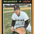 BOSTON RED SOX DON PAVLETICH 1971 TOPPS # 409 NM