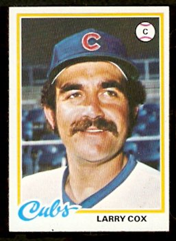 CHICAGO CUBS LARRY COX 1978 TOPPS # 541 EM/NM