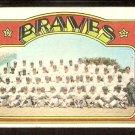 ATLANTA BRAVES TEAM CARD 1972 TOPPS # 21 fair