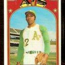 OAKLAND ATHLETICS TOMMY DAVIS 1972 TOPPS # 41 EX