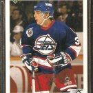 WINNIPEG JETS DARRIN SHANNON 1991 UPPER DECK # 581