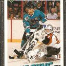 SAN JOSE SHARKS JEFF ODGERS ROOKIE CARD RC 1991 UPPER DECK # 597