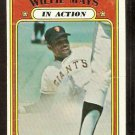 SAN FRANCISCO GIANTS WILLIE MAYS IN ACTION 1972 TOPPS # 50 good