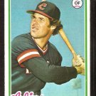 CLEVELAND INDIANS JOHNNY GRUBB 1978 TOPPS # 608 NM