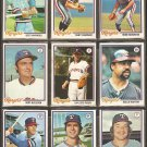 1978 TOPPS TEXAS RANGERS TEAM LOT 21 DIFF BLYLEVEN GAYLORD PERRY HARRAH HARGROVE