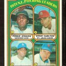 PITCHING LDRS NEW YORK METS TOM SEAVER CUBS FERGIE JENKINS CARDINALS CARLTON DODGERS 1972 TOPPS 93