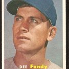 CHICAGO CUBS DEE FONDY 1957 TOPPS # 42 NM