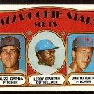NEW YORK METS ROOKIE STARS JON MATLACK LEROY STANTON BUZZ CAPRA 1972 TOPPS # 141 VG