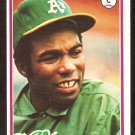 OAKLAND ATHLETICS MANNY SANGUILLEN 1978 TOPPS # 658 EX