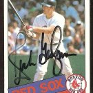 BOSTON RED SOX RICH GEDMAN AUTOGRAPHED 1985 TOPPS # 529