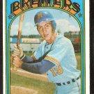MILWAUKEE BREWERS RICK AUERBACH 1972 TOPPS # 153 EX/EM