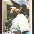 LOS ANGELES DODGERS DUSTY BAKER 1978 TOPPS # 668 NM OC