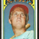 TEXAS RANGERS JEFF BURROUGHS ROOKIE CARD RC 1972 TOPPS # 191 VG+/EX
