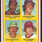 ROOKIE PITCHERS CHICAGO CUBS CLEVELAND INDIANS OAKLAND ATHLETICS HOUSTON ASTROS 1978 TOPPS # 711 VG