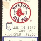 OAKLAND ATHLETICS BOSTON RED SOX 1987 TICKET REGGIE JACKSON JIM RICE CANSECO