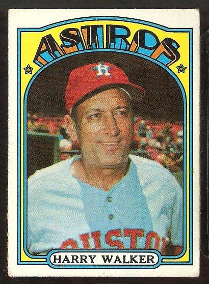 HOUSTON ASTROS HARRY WALKER 1972 TOPPS # 249 VG+