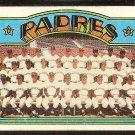 SAN DIEGO PADRES TEAM CARD 1972 TOPPS # 262 good