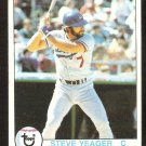 LOS ANGELES DODGERS STEVE YEAGER 1979 TOPPS # 75 VG