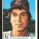 CLEVELAND INDIANS DAN BRIGGS 1979 TOPPS # 77 NM OC