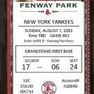 NEW YORK YANKEES BOSTON RED SOX 2011 TICKET BRETT GARDNER DAVID ORTIZ SCUTARO JOHNNY PESKY