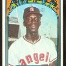 CALIFORNIA ANGELS MICKEY RIVERS ROOKIE CARD RC 1972 TOPPS # 272 VG+
