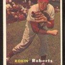 PHILADELPHIA PHILLIES ROBIN ROBERTS 1957 TOPPS # 15