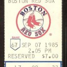 CLEVELAND INDIANS BOSTON RED SOX DBL HEADER 1985 TICKET ARMAS GEDMAN HR JIM RICE 3 HITS WADE BOGGS